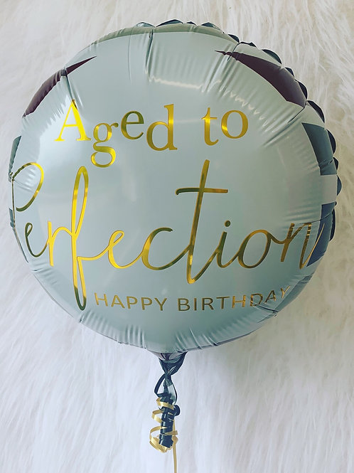 Aged to perfection 18 Foil Balloon in a gift box