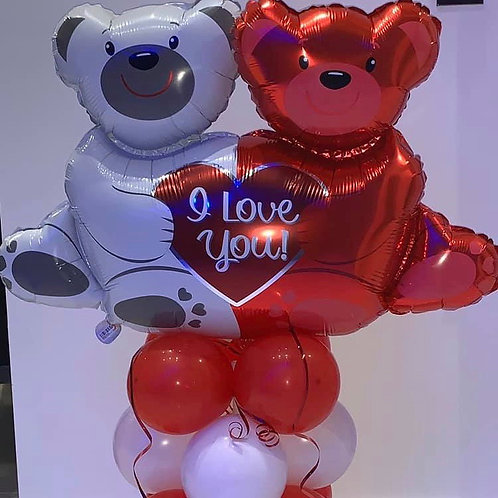 Teddy Bear I love you display