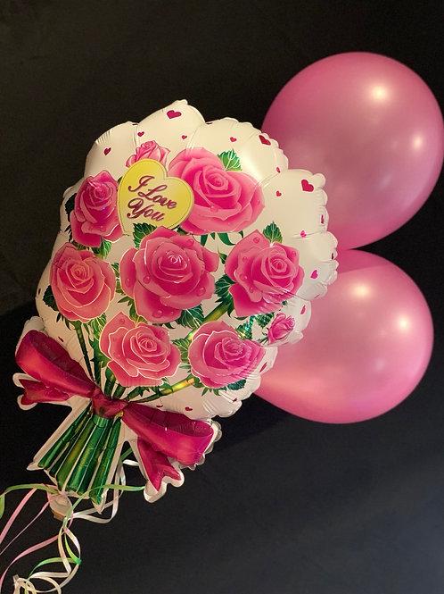 I love you Balloon flower Bouquet