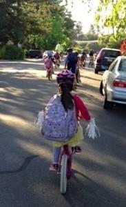 Wow parents organized Almond bike train