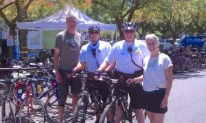 Los Altos' Finest Valet Park Their  Bikes