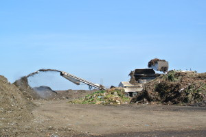 Pulverized green waste