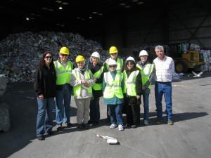 GreenTown Volunteers Tour Los Altos'  Recycling Facility