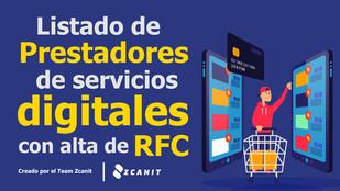 Listado de Prestadores de Servicios Digitales inscritos en el RFC 2020