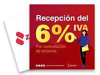 Recepción del 6% de IVA para contratación de tercero