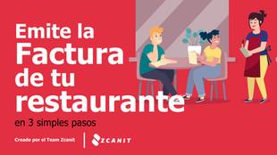 Emite la factura para tu restaurante en 3 pasos