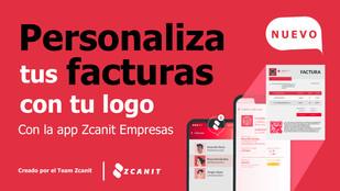 Personaliza tu factura con tu logo en la app Zcanit Empresas