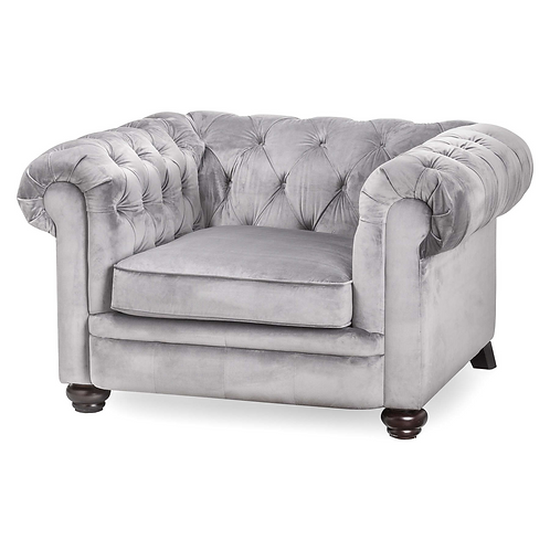 Soft Grey  Chesterfield Chair