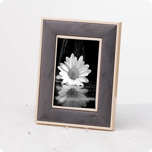 Grey Velvet and Gold 8x10 Frame