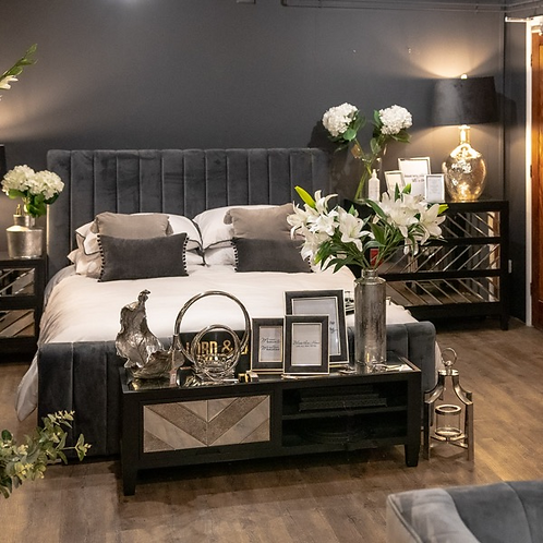 Grey Luxurious Bed