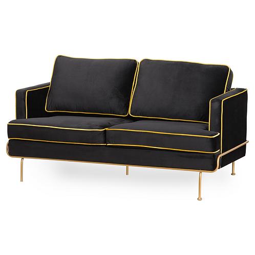ArtDeco Black Velvet sofa