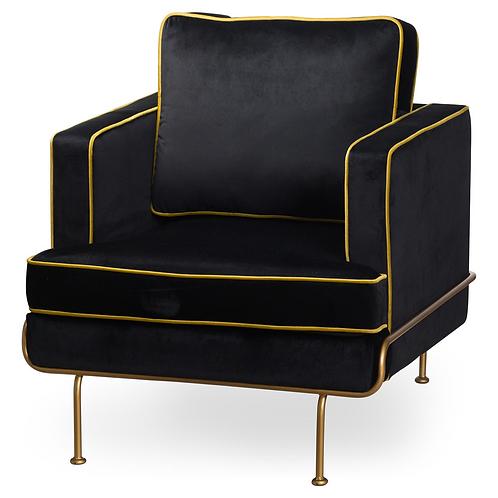 Black Velvet Artdeco chair