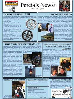PERCIA'S NEWS FEBRUARY 2013