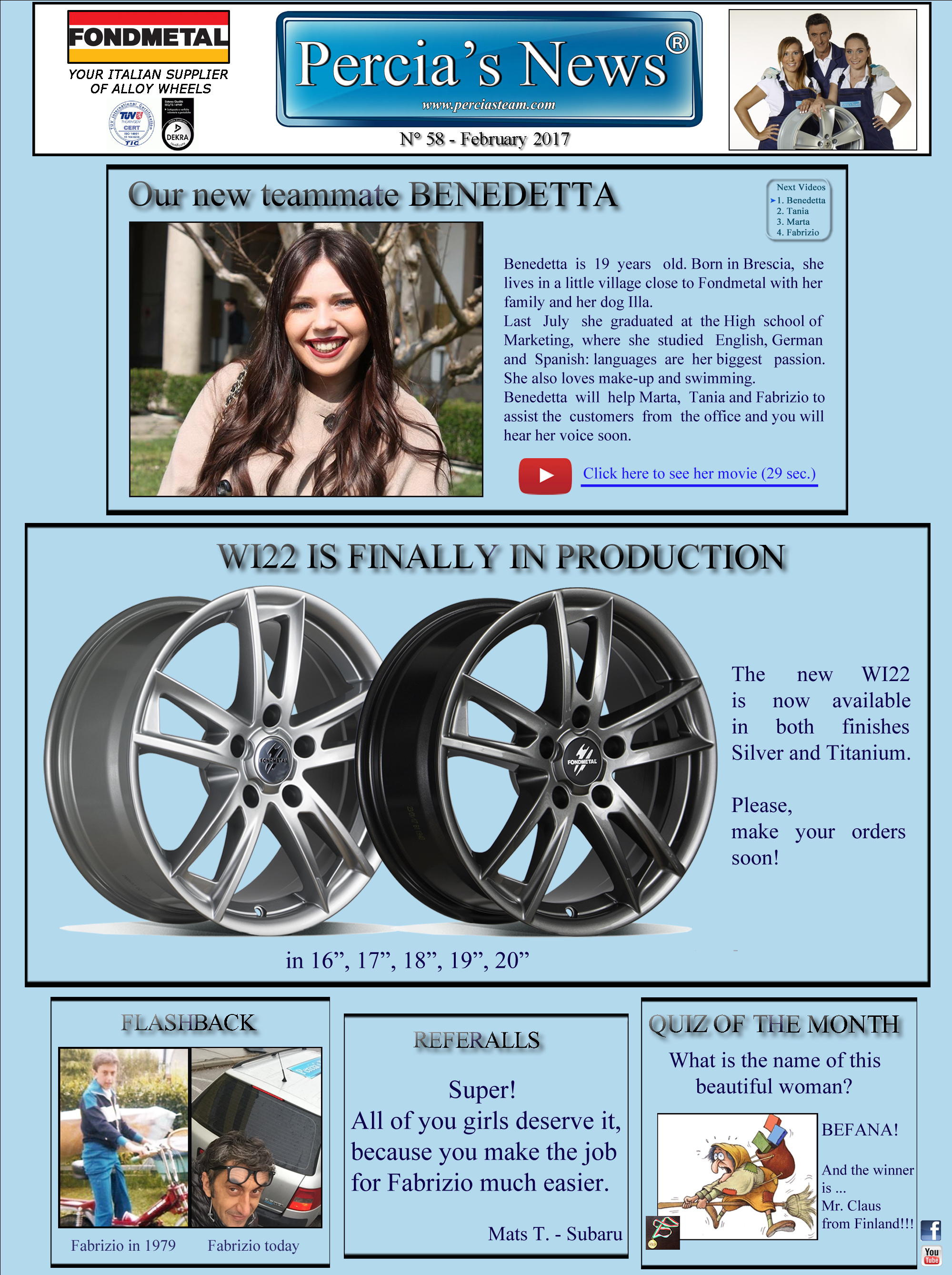 Percia's News - FEBRUARY