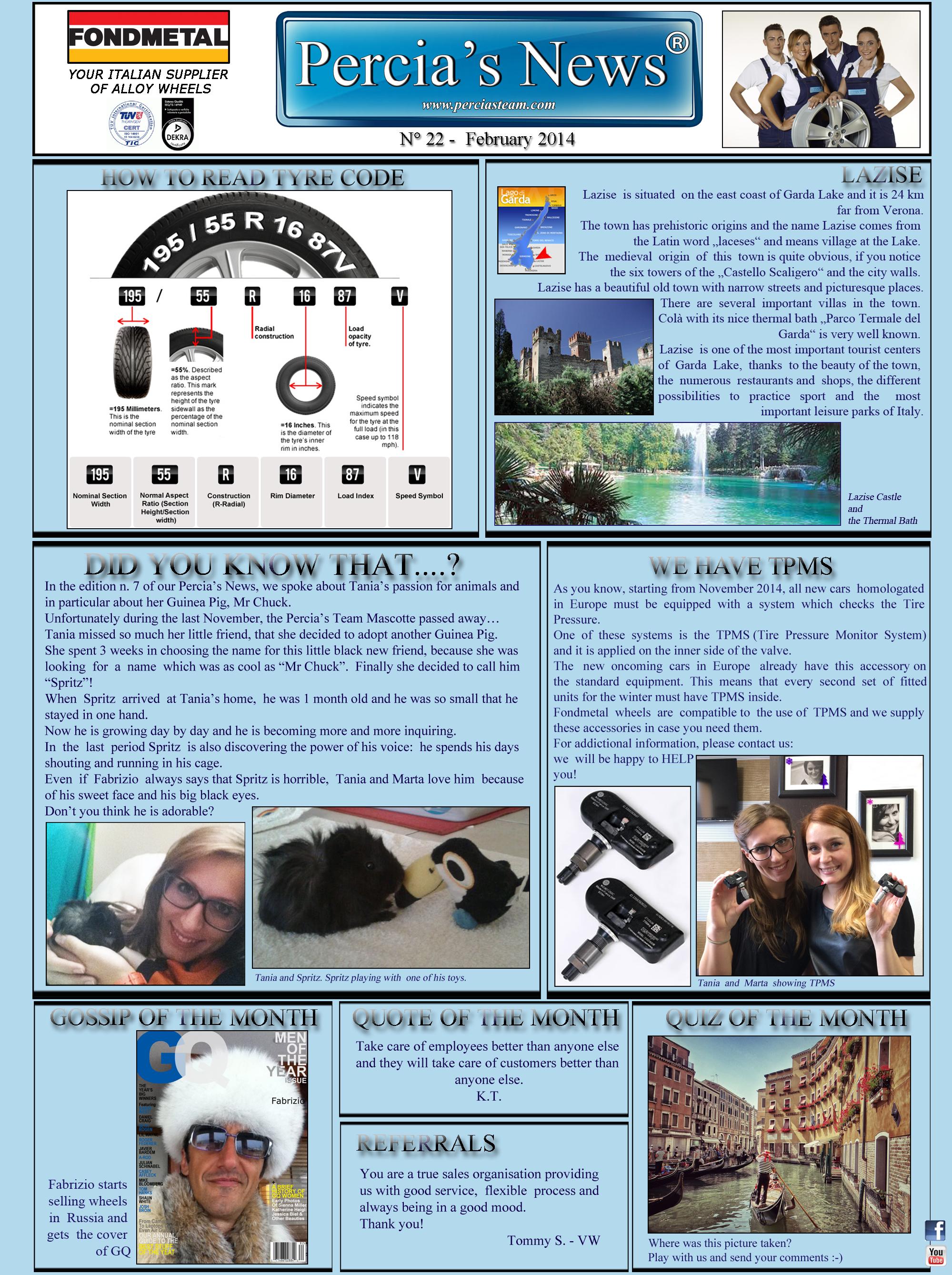 PERCIA'S NEWS FEBRUARY 2014