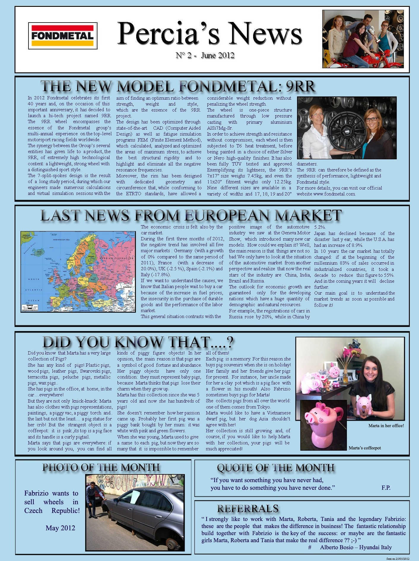 PERCIA'S NEWS JUNE 2012