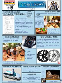 PERCIA'S NEWS - JULY 2015