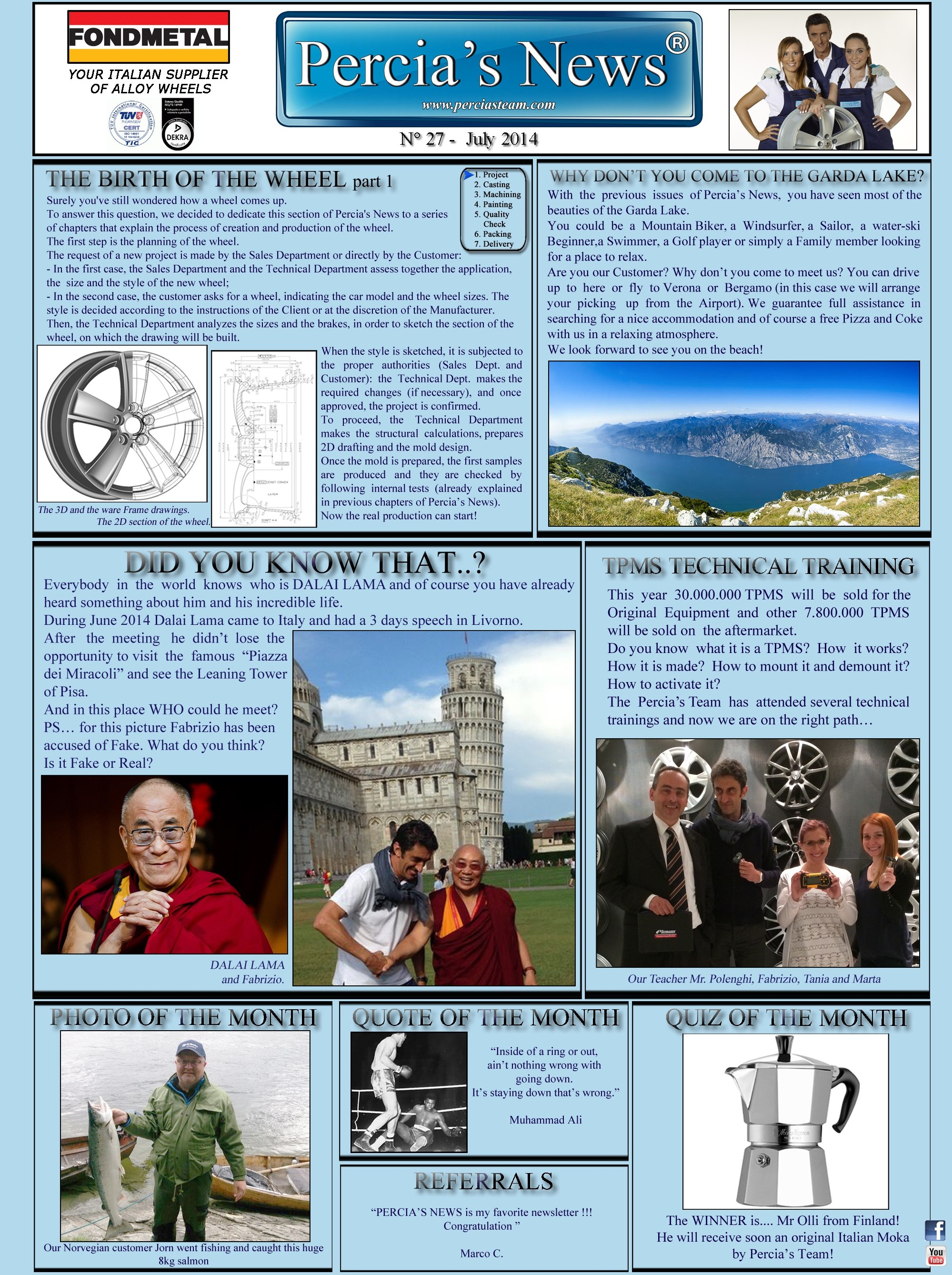 PERCIA'S NEWS JULY 2014