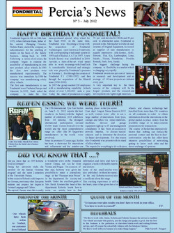 PERCIA'S NEWS JULY 2012