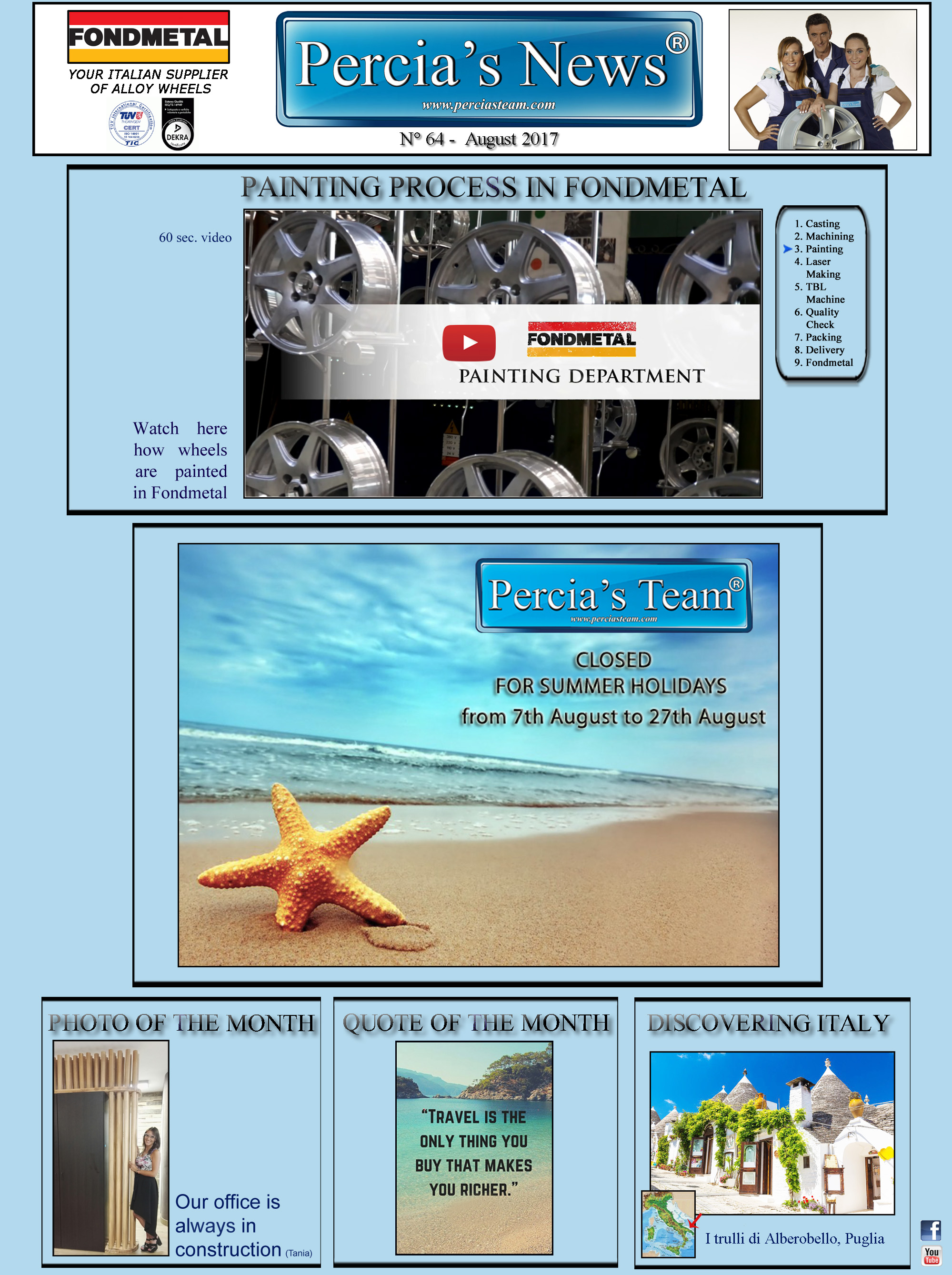 Percia's News - AUGUST