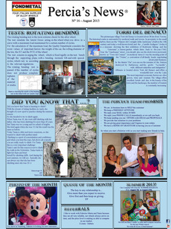 PERCIA'S NEWS AUGUST 2013