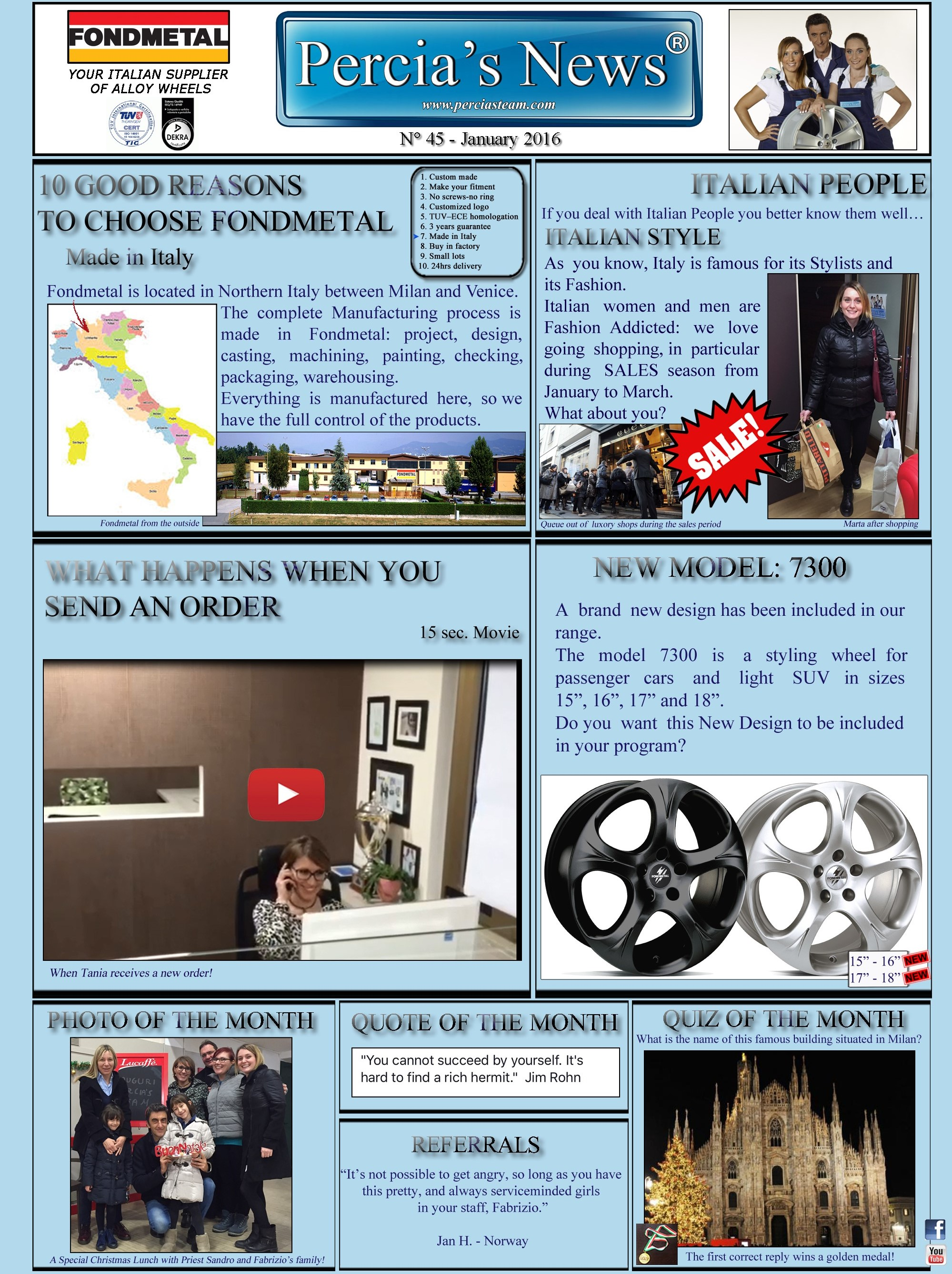 PERCIA'S NEWS - n.45 JANUARY 2016