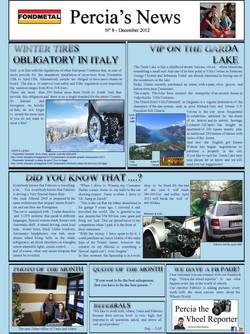 PERCIA'S NEWS DECEMBER 2012