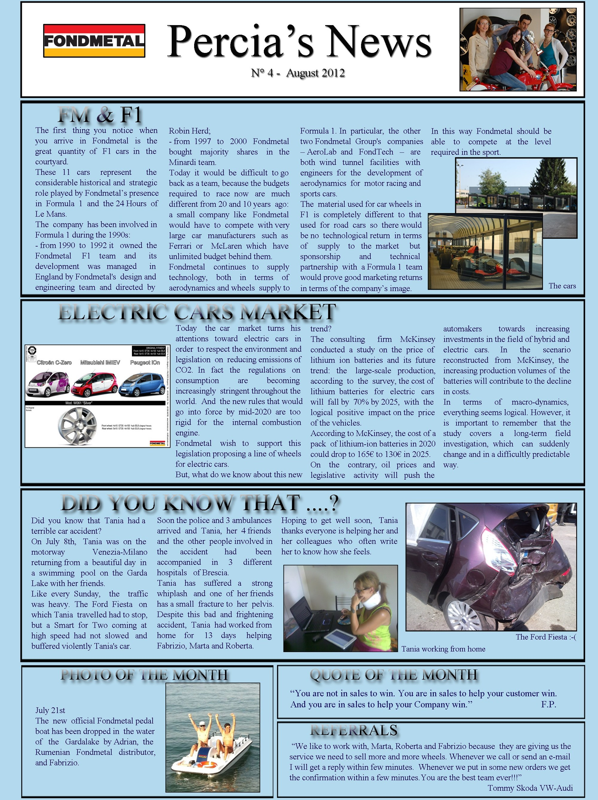 PERCIA'S NEWS AUGUST 2012