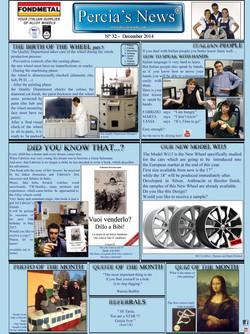 PERCIA'S NEWS DECEMBER 2014
