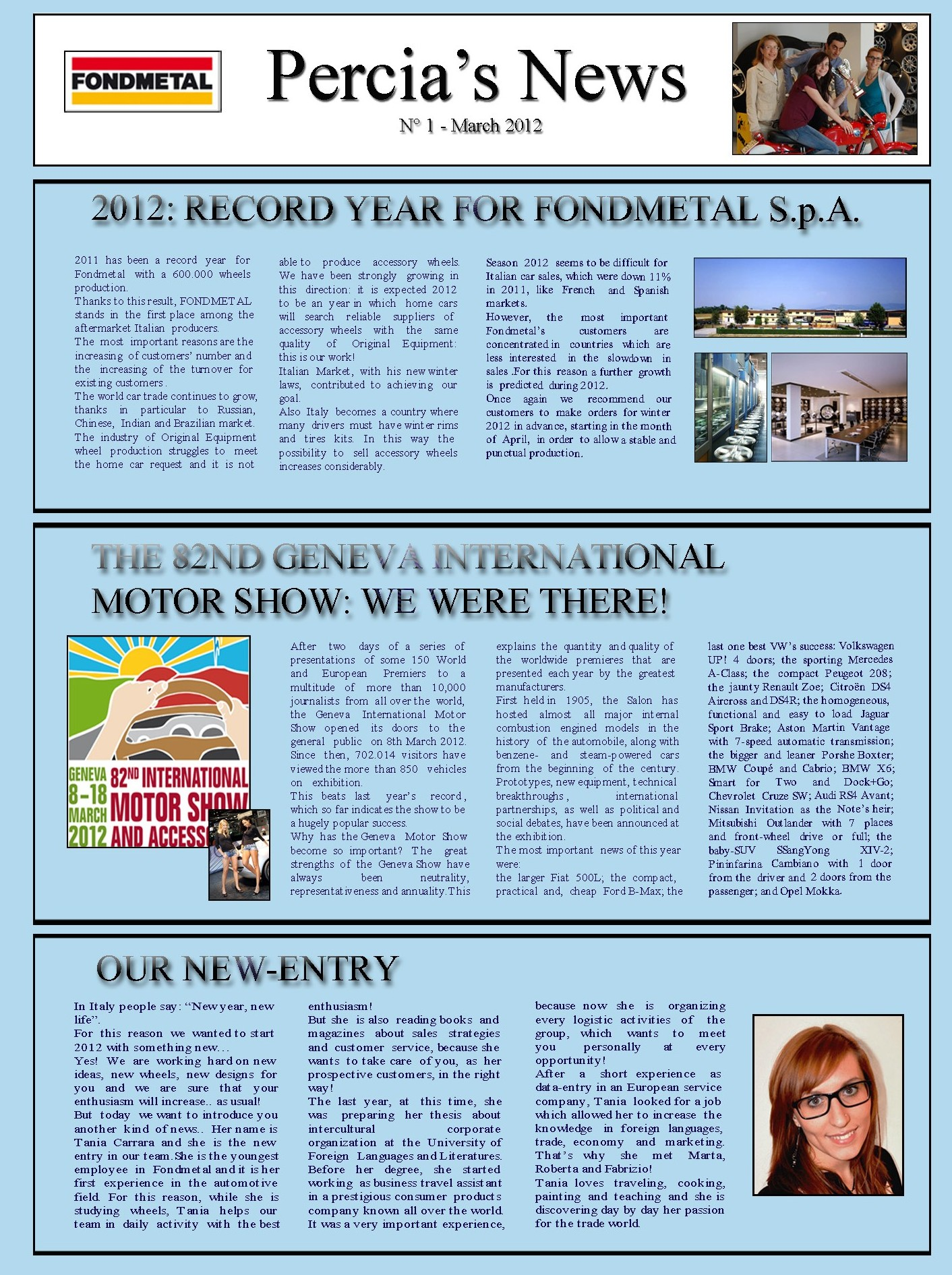 PERCIA'S NEWS MARCH 2012