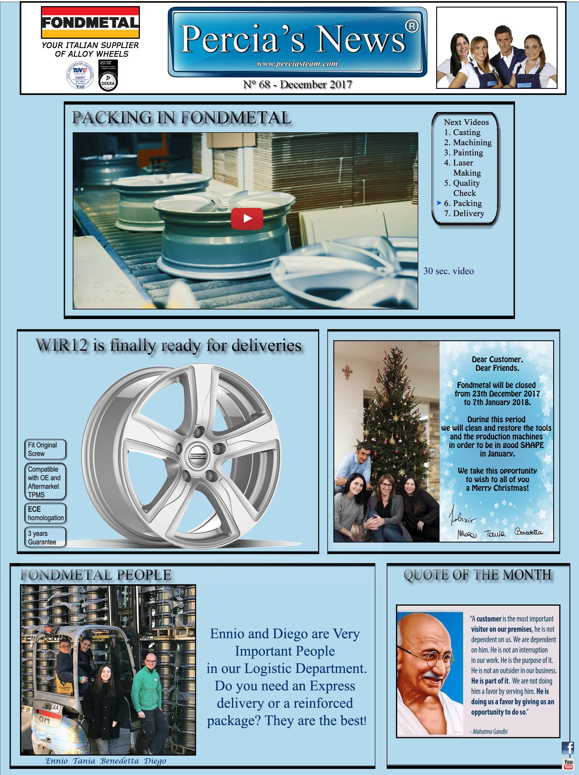 Percia's News - DECEMBER
