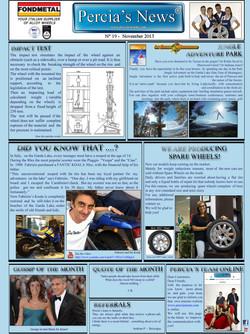 PERCIA'S NEWS NOVEMBER 2013