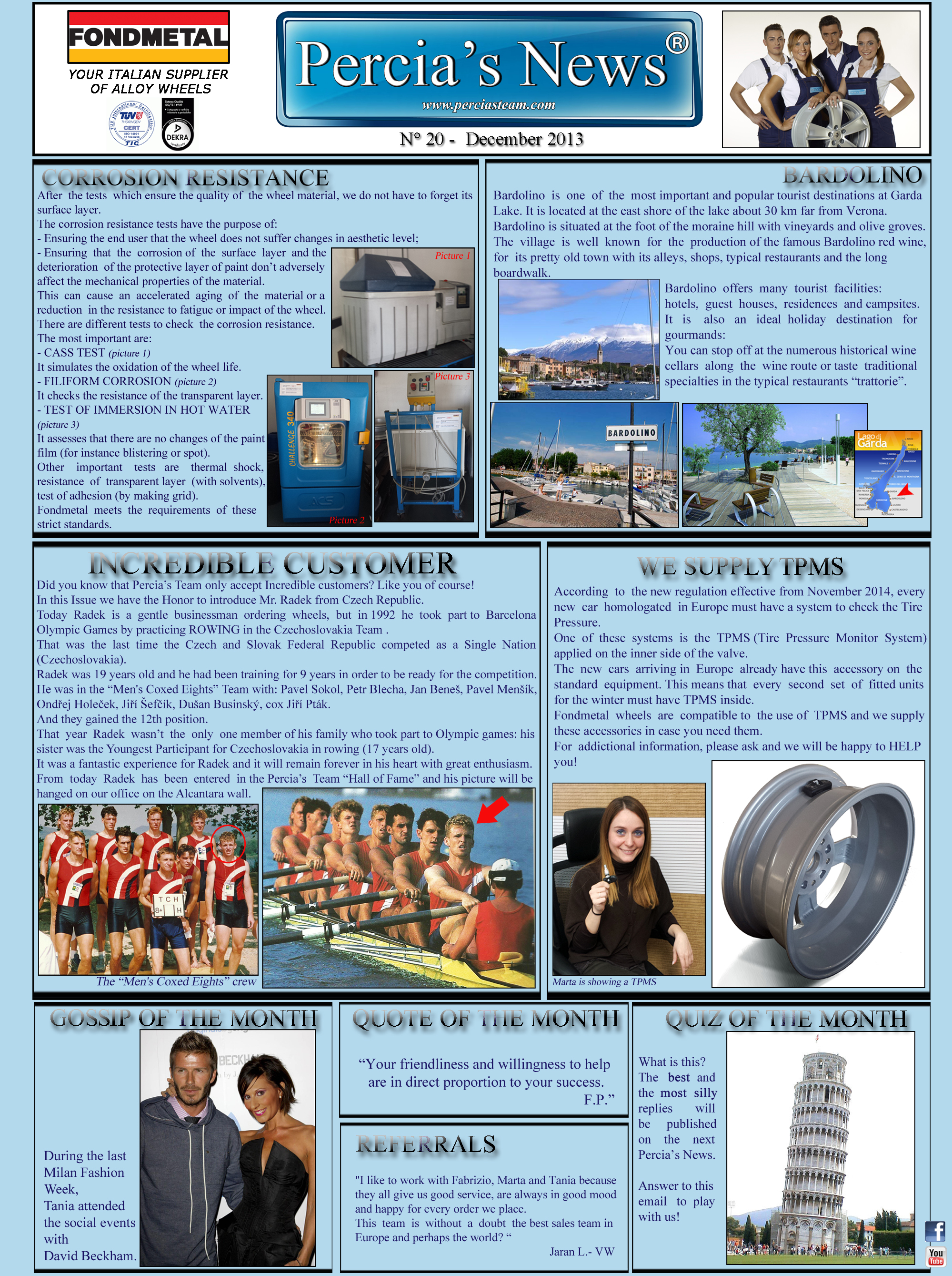 PERCIA'S NEWS -DECEMBER 2013