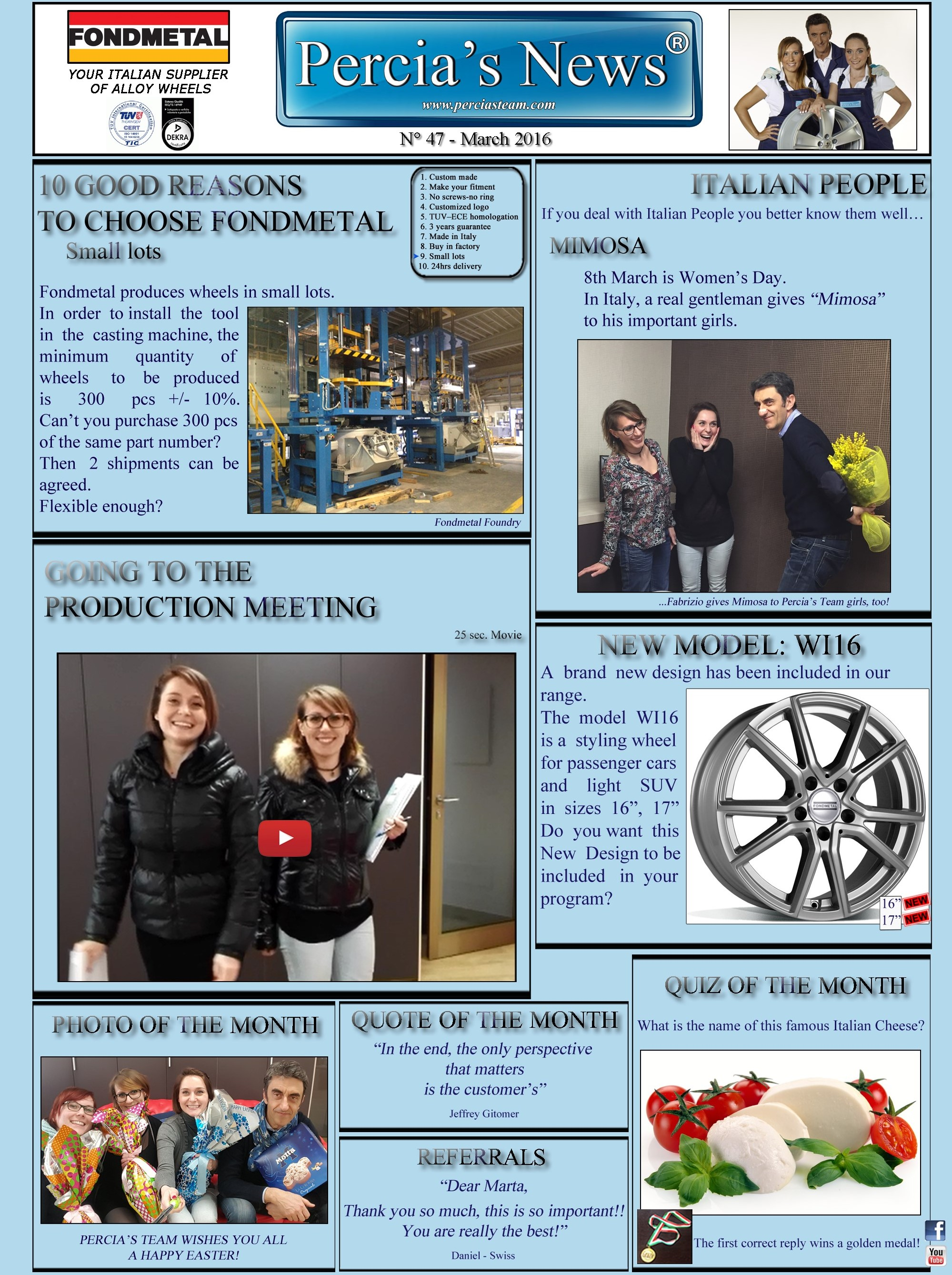 PERCIA'S NEWS - MARCH 2016