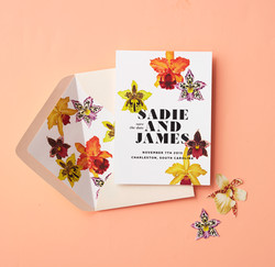 Tropical Orchid Save the Date