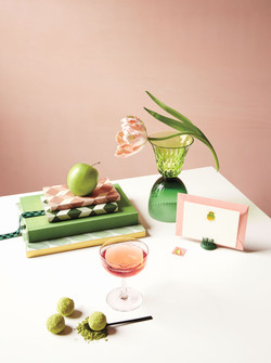 The Palette: Blush + Green