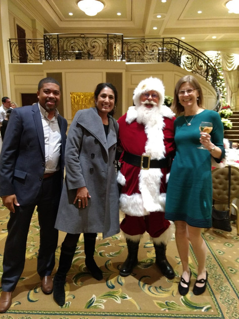 You Can Find Santa At Fancy Receptions
