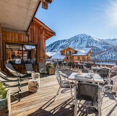 Hotel in den französischen Alpen