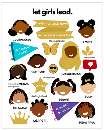 Led By Girls Stickers