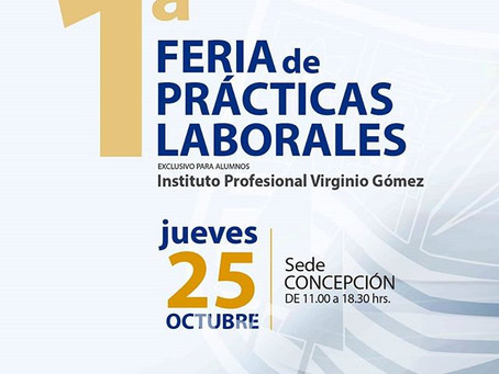 1° feria de prácticas del Instituto Profesional Virginio Gómez.