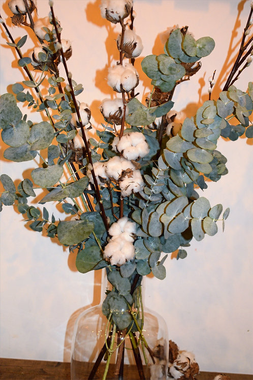 Eucalyptus and cotton and pussywillow