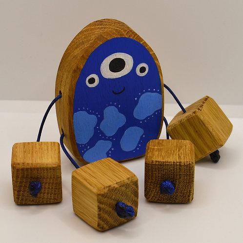 Dewey the blue alien minirue doll