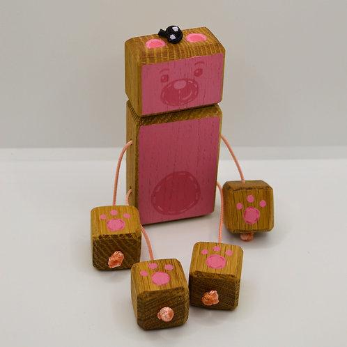 Pink teddy bear doll