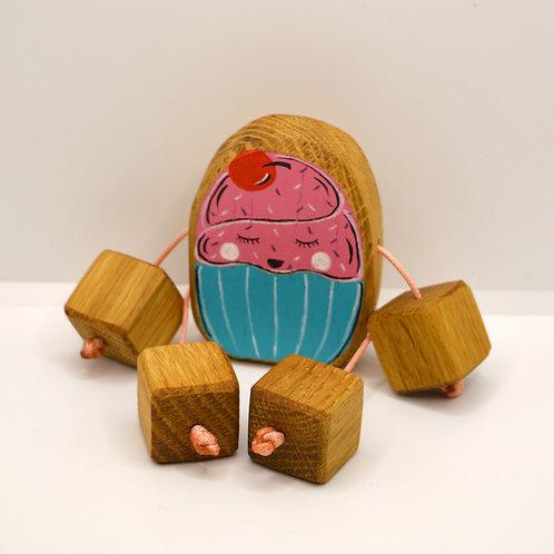 Cherry cupcake minirue doll