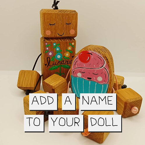 Add a name to your doll!
