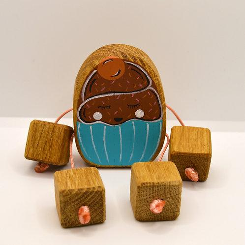 Chocolate cupcake minirue doll