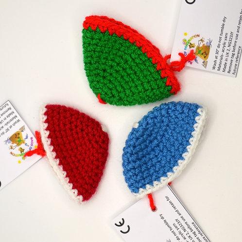 Bags of Imagination handmade Wintery Lunarue hats