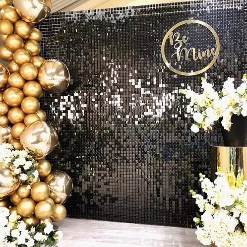 Black Premium Shimmer Wall
