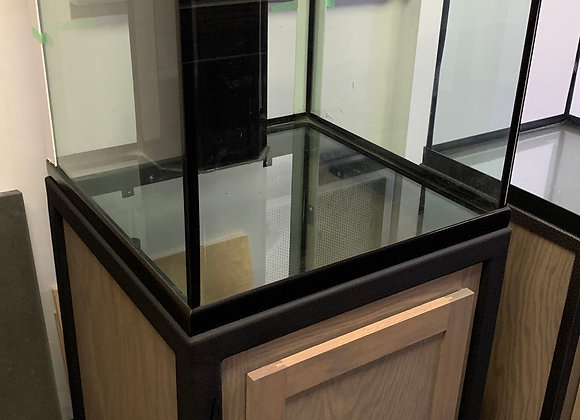 """60gal 24""""x2""""x24""""Planet Black seal Tank and IronFish Stand"""