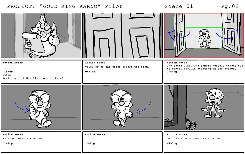 """Karno"" Pilot Storyboards Pg2"